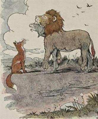 Vom Fuchs und vom Esel im Löwenfell – Fabel Aesop