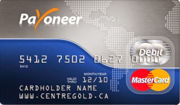 An example of a MasterCard Debit Card issued by Payoneer.