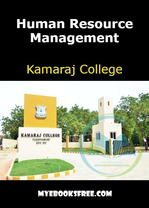 Human Resource Management Book by Kamaraj College PDF Download