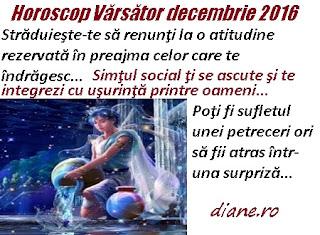 Horoscop decembrie 2016 Vărsător