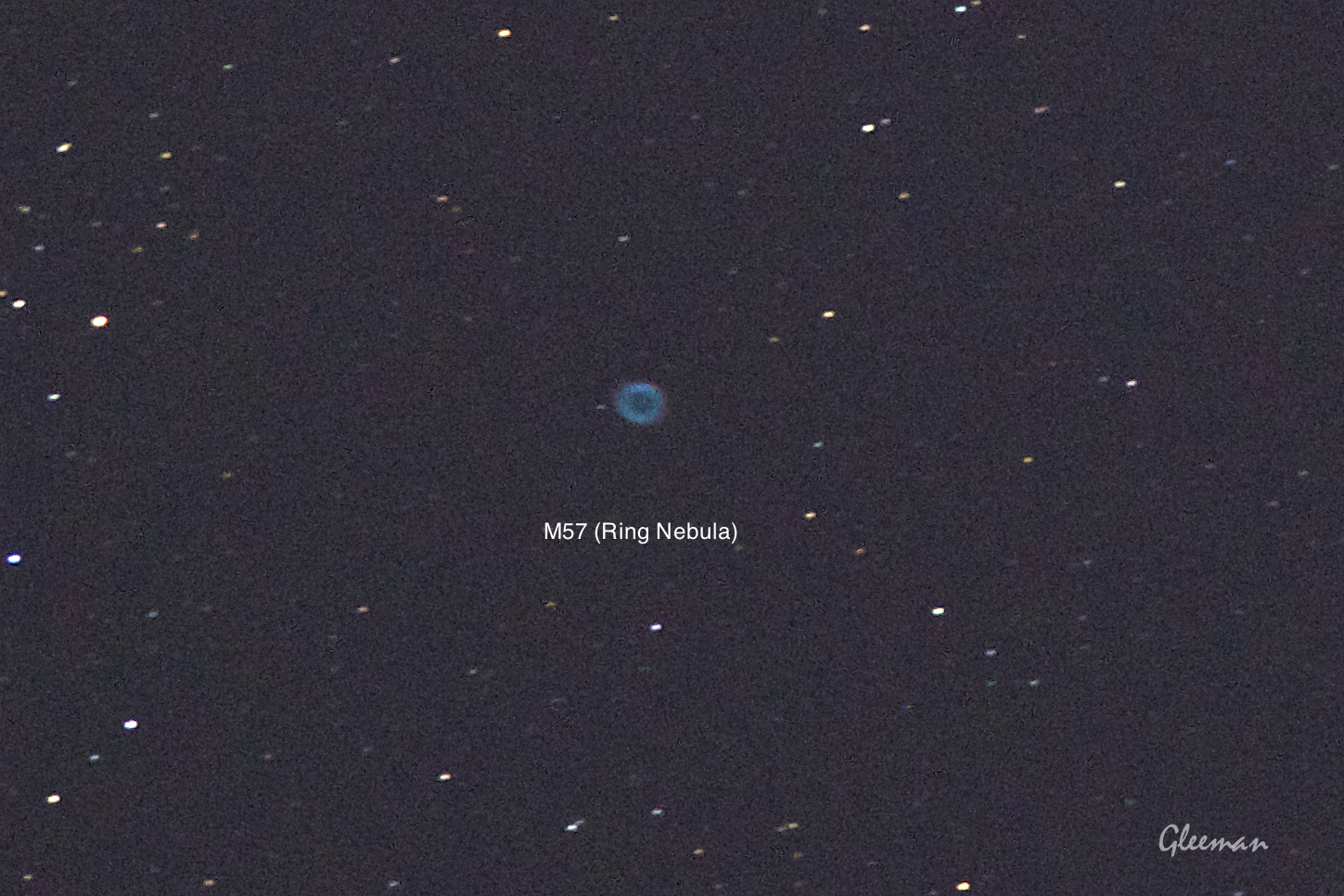 M57/ Pentax Pentax 75SDHF + 1.4XL + K5 ,O-GPS1 Astrotracer/ cropped