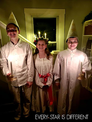 Santa Lucia Day Attire for Boys and Girls