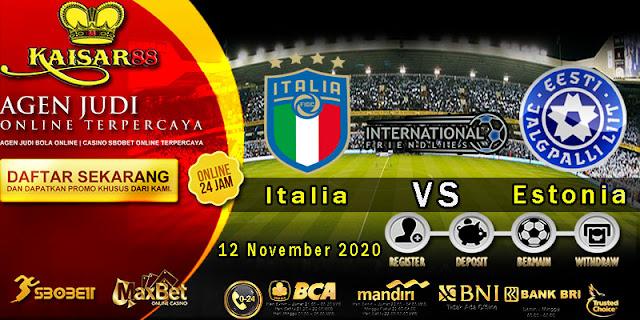 Prediksi Bola Terpercaya Laga Friendlies Italy vs Estonia 12 November 2020
