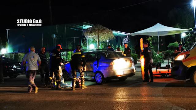 Σοβαρό τροχαίο ατύχημα με τραυματισμό στο Ναύπλιο (βίντεο)