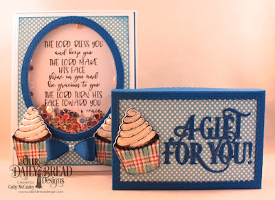 Our Daily Bread Design Stamp/Die Duos:All God's Blessings, Paper Collection: Birthday Brights, Custom Dies: Pierced Rectangles, Double Stitched Rectangles, Double Stitched Ovals, Bitty Borders, Small Bow, The Gift Giving Box, A Gift For You