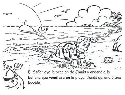 Historia Bíblica De Jonás Para Colorear Recursos Para La Escuela