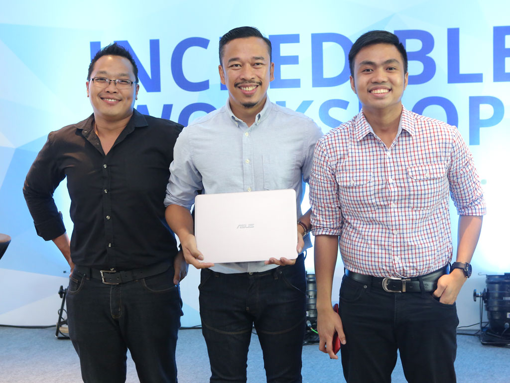 ASUS Incredible Workshops - Alvin Estacio, Jason Magbanua and Anvey Factora