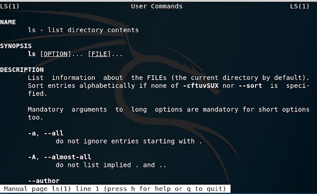 linux man command