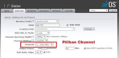 Setting Channel Wifi pada router atau Access point
