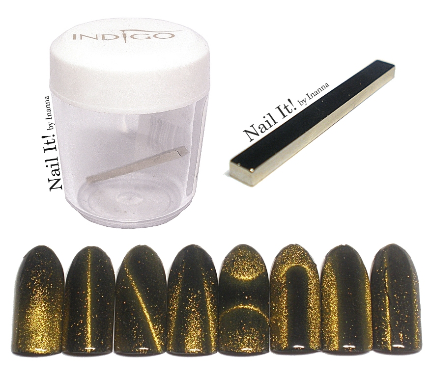 "Indigo Nails ""Cat Eye Magnet Stick"" - review and nail art"