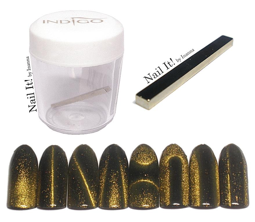 "Indigo Nails ""Cat Eye Magnet Stick"" - review and nail art"