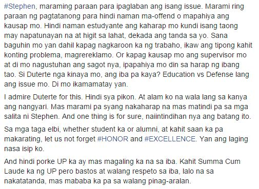 A MUST READ open letter, written by a UPLB Alumnus addressed to the arrogant UPLB Student!