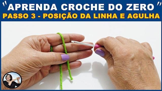 AULA DE CROCHÊ PARA INICIANTES - APRENDA CROCHÊ DO ZERO EM 5 PASSOS