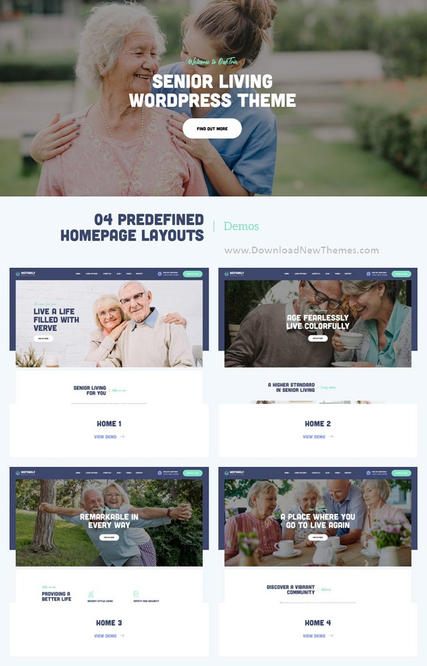 Best Senior Care WordPress Theme