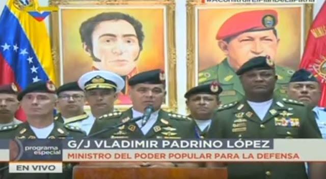 """Padrino López calificó de """"ridículas y estúpidas"""" las sanciones de EEUU contra militares"""