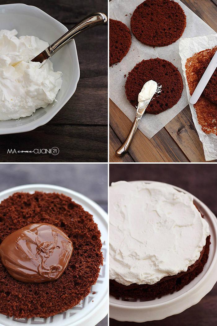 torta cioccolato e panna(preparazione)