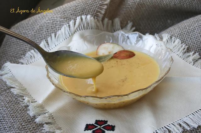 Crema de calabaza y manzana s