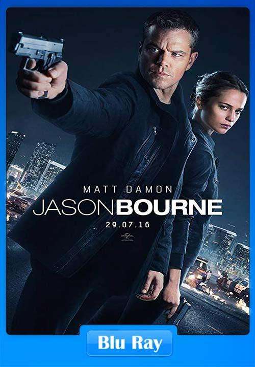 Jason Bourne 2016 Hindi 720p BluRay Telugu Tamil ESub x264 | 480p 300MB | 100MB HEVC