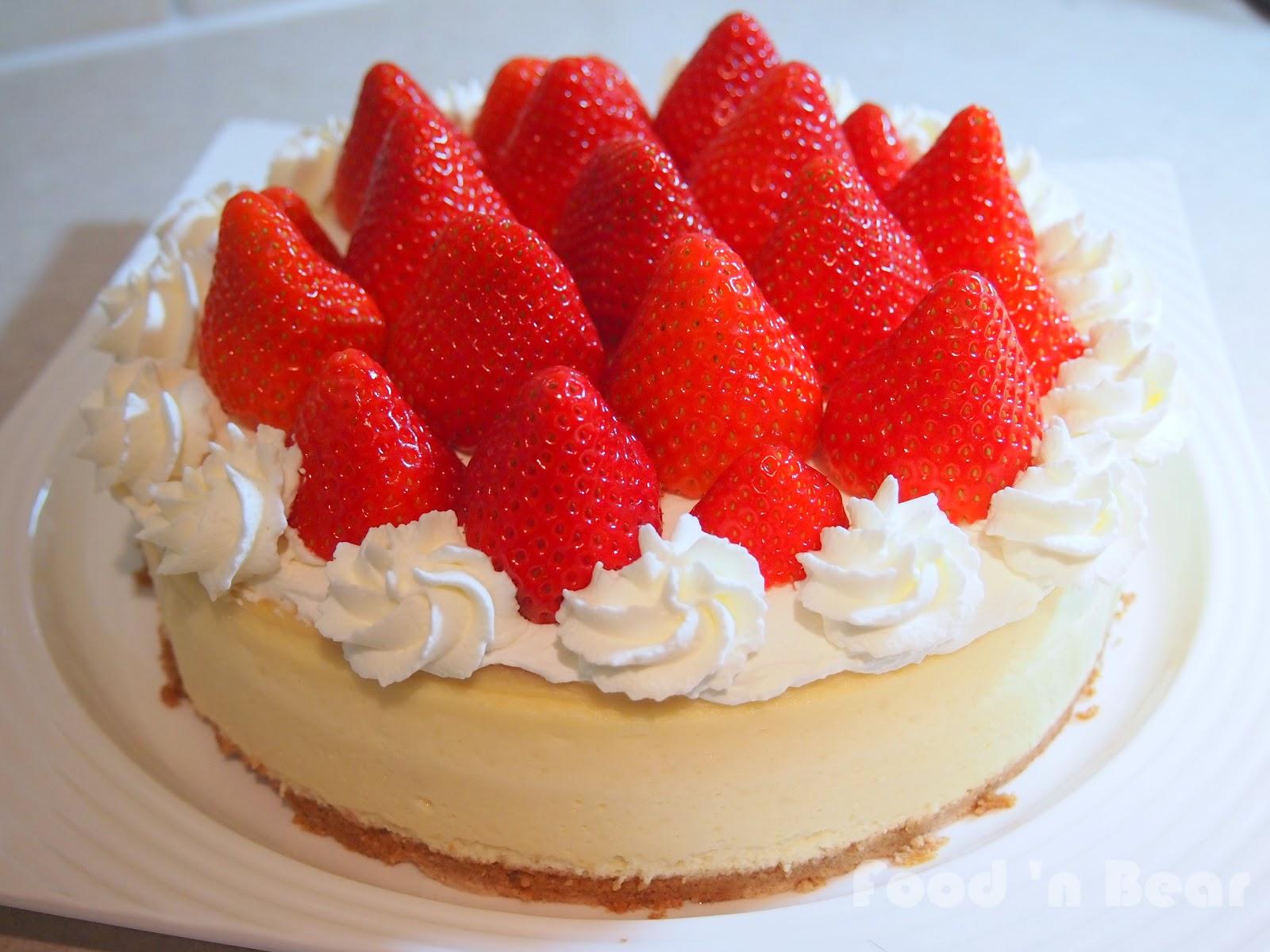Food N Bear Fresh Strawberry New York Cheesecake