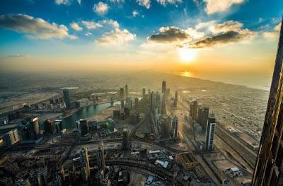 Sunset di Burj Khalifa