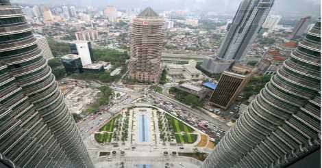 View Kuala Lumpur yang Keren dari Atas Menara Kembar Petronas
