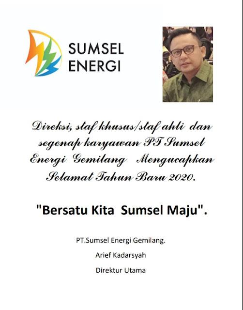 PT Sumsel Enregi Gemilang Mengucapkan Selamat Tahun Baru 2020