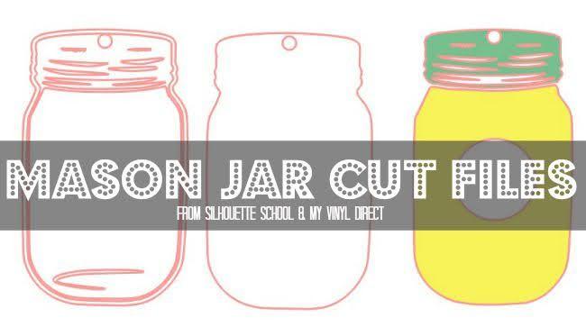 Silhouette Studio, free cut file, mason jar