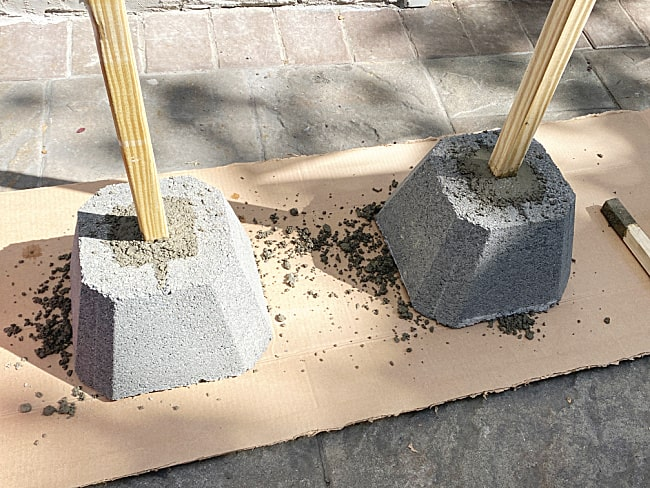 cement bases for poles