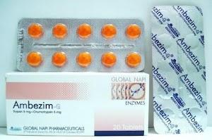 اقراص إمبيزيم ج Ambezim لقضاء على التورم والارتشاح الجرعة والاستخدام والاعراض الجانبية
