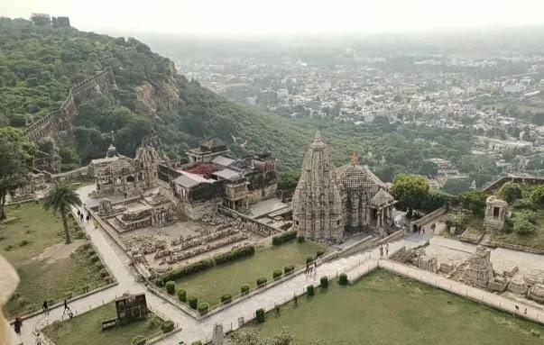 top view from vijay stambh chittorgarh