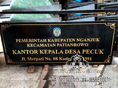 Prasasti Granit, Papan Nama Kantor Pemerintahan, Prasasti Peresmian