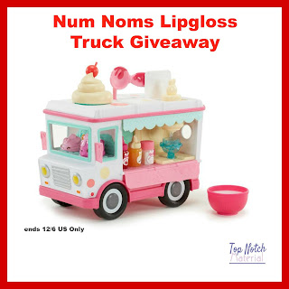 Enter the Num Noms Lipgloss Truck Giveaway . Ends 12/6