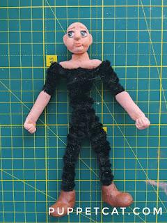 каркасная кукла из глины