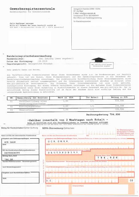 Scan: Offerte GCR GmbH / Sep 2019
