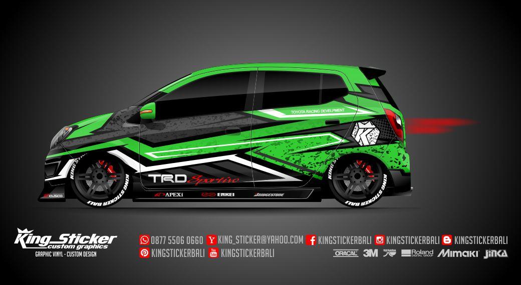 Mazda 6 Sport >> STICKER MOBIL AGYA - AYLA TRD RACING SPORT | King Sticker bali
