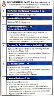 Gulf Industrial Gases Co. LLC, Abu Dhabi, UAE Requirement For ITI, Diploma and BE Candidates on Technician & Engineer Post
