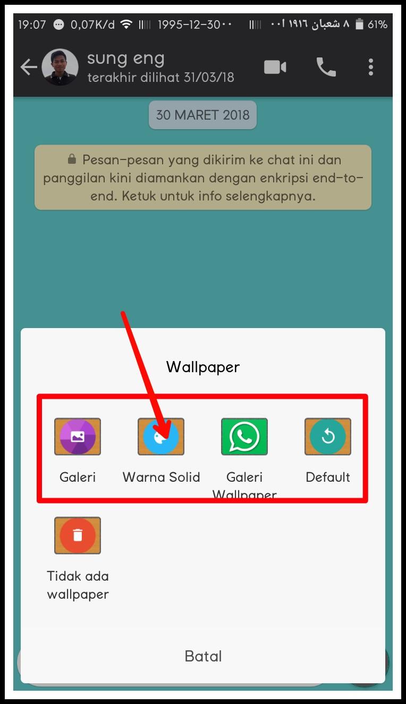 Cara Ganti Wallpaper Whatsapp Xiaomi Redmi 3s