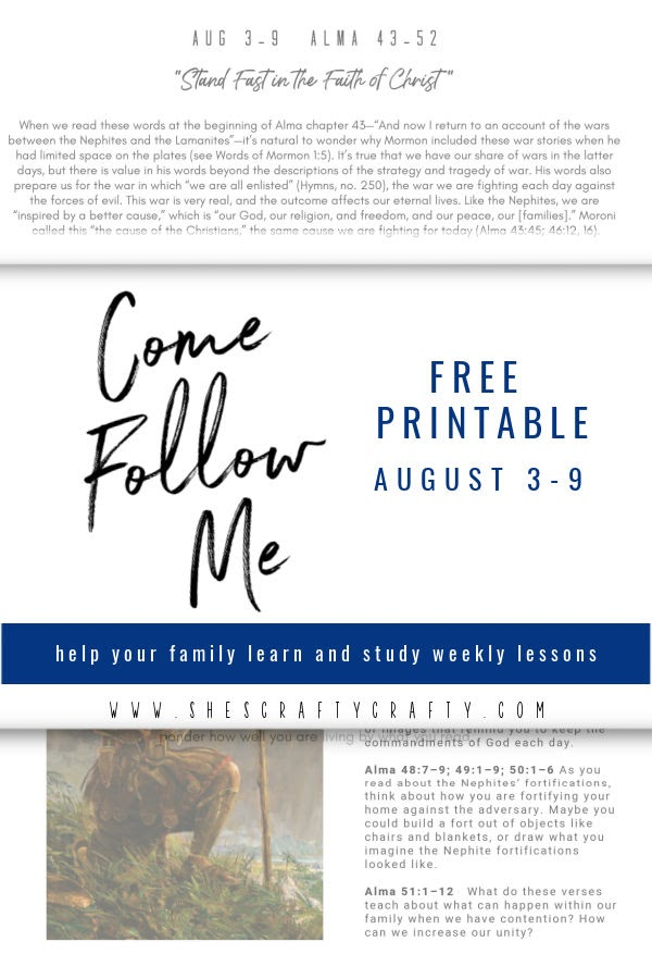 Come Follow Me Free Printable Lesson Help August 3-9