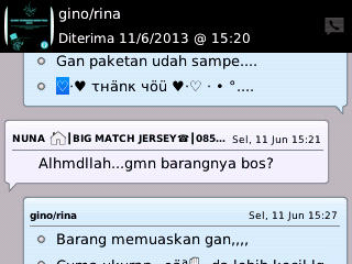 Testimoni Pelanggan Big Match Jersey