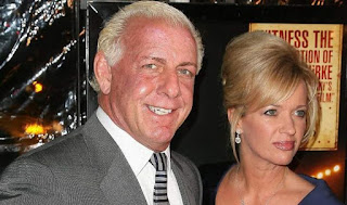 Jackie Beems with her ex-husband Ric Flair