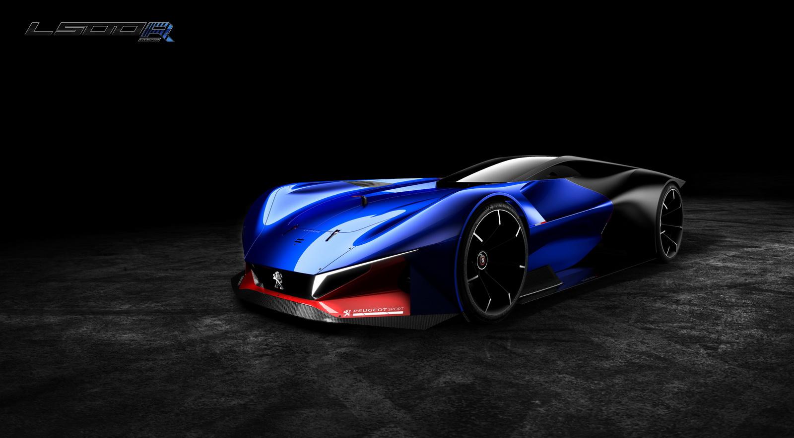 peugeot L R hybrid racing concept