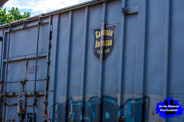 Canadian American Railroad Freight Car, Side View, Allen Pearson Photography
