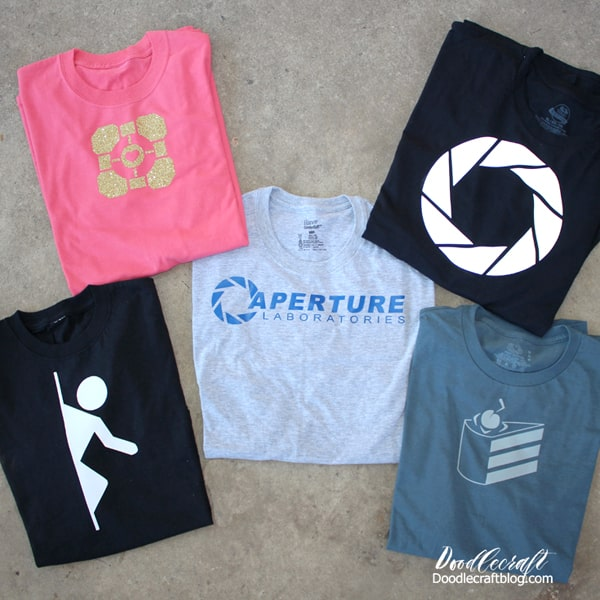 Make Aperature Science from Portal Video Game inspired shirts for ultimate geek fashion.