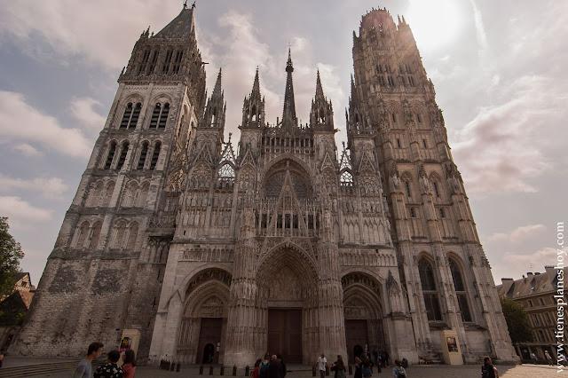 Catedral de Notre-Dame de Ruan (Rouen) visita viaje Normandía turismo Francia roadtrip