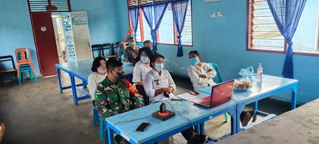 Dalam Rangka KKB Sosialisasi Penanganan Covid-19 Personel Jajaran Kodim 0207/Simalungun Turut Serta Mengahdirinya