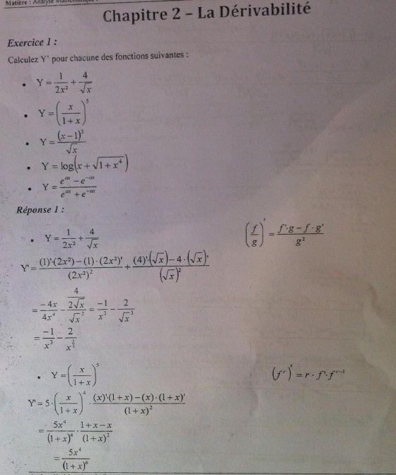 Exercices corrigés - Analyse Mathématique I