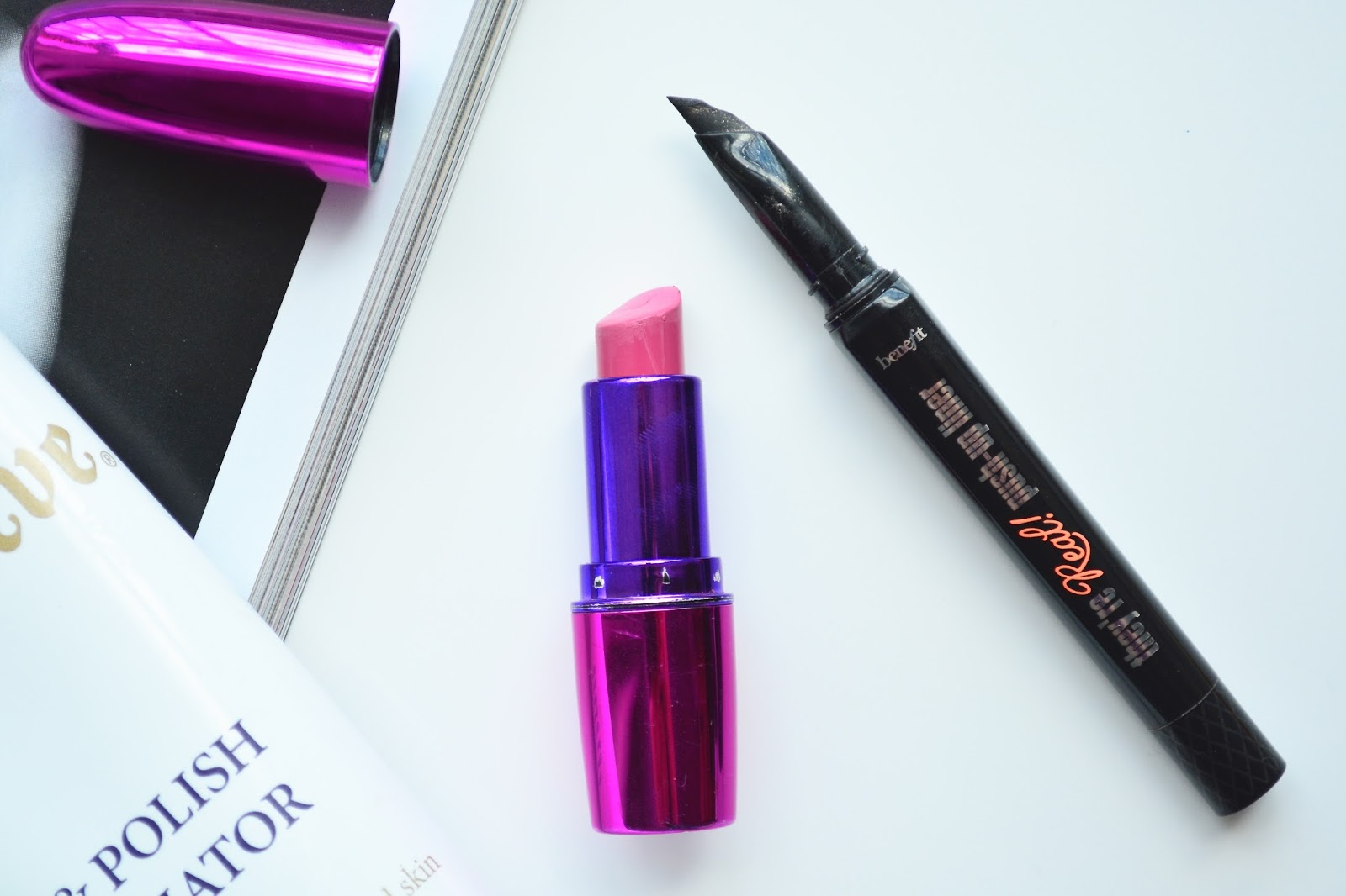 Makeup Revolution Ken Will Want Me Lipstick, Benefit They're Real Push Up Liner