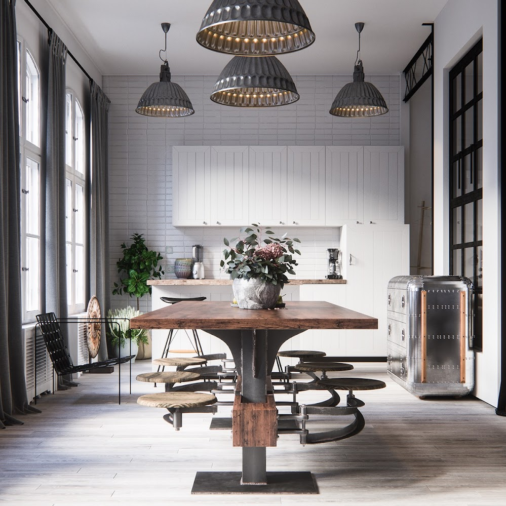 industrial-style-dining-room-tables