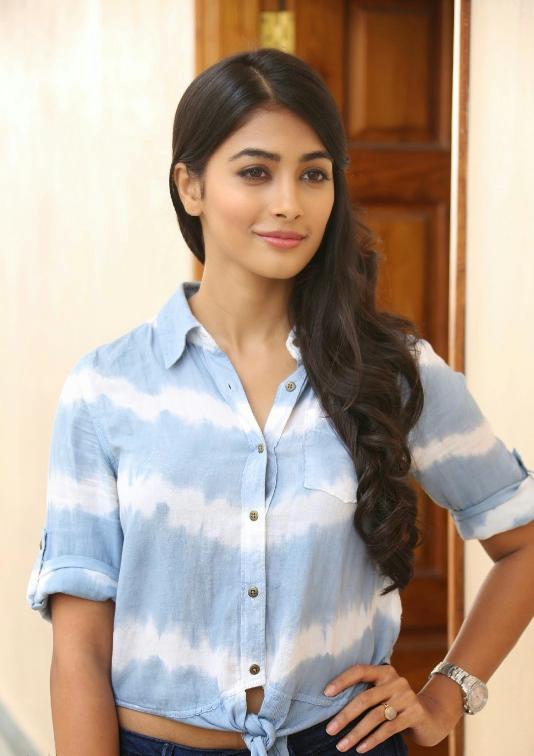 Pooja Hegde Latest Photo Gallery In Blue Jeans  Hq Pics N -1081