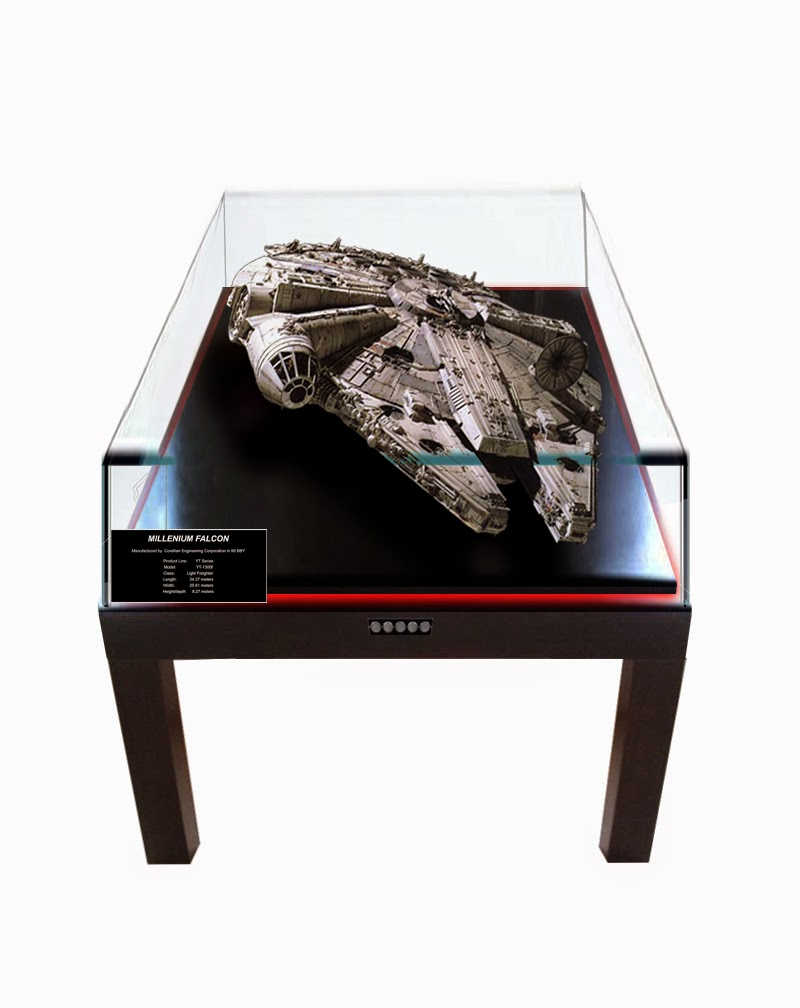 Millennium falcon model build diary pt 25 display table for Html display table